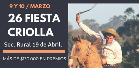 Llega la 26ª Fiesta Criolla!